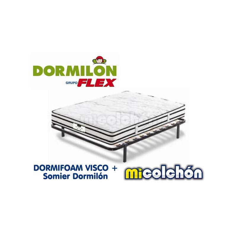 Pack Dormilon DORMIFOAM VISCO + SOMIER