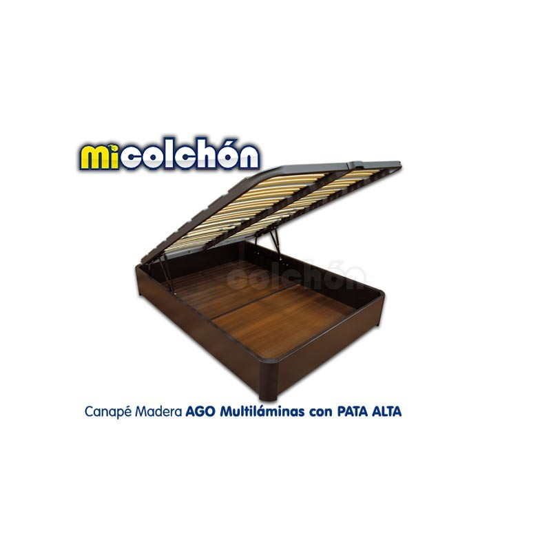 AGO PLYWOOD Storage Bed with HIGH LEGS