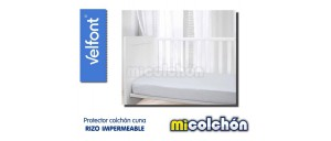 Velfont BREATHABLE LOOP Crib Mattress Protector