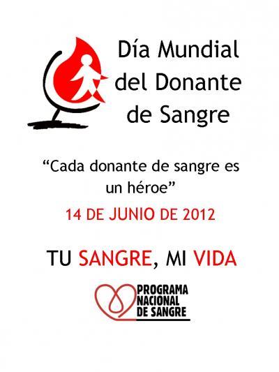 14 de Juni Dia Mundial Donante de Sangre